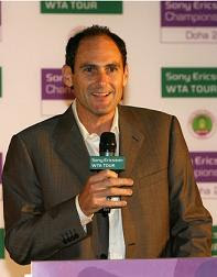 Black Tennis Pros Larry Scott WTA Tour Economic Downturn